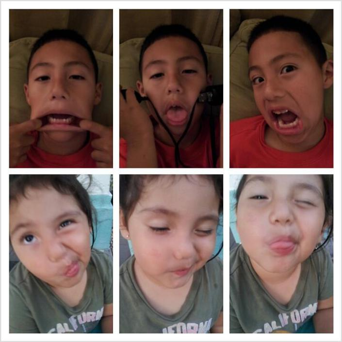 Silly Faces of a Carefree Childhood